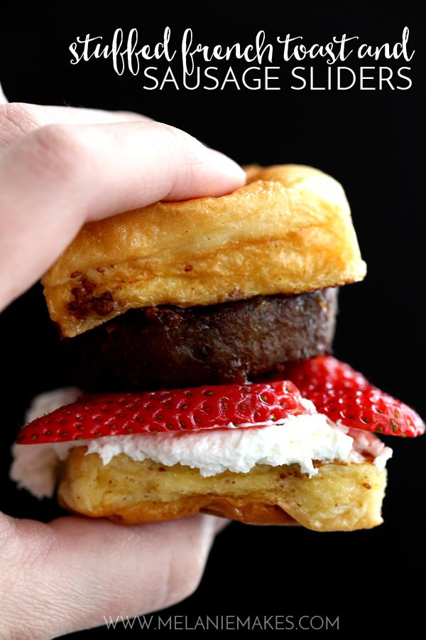 Weekly Family Meal Plan - Stuffed French Toast and Sausage Sliders