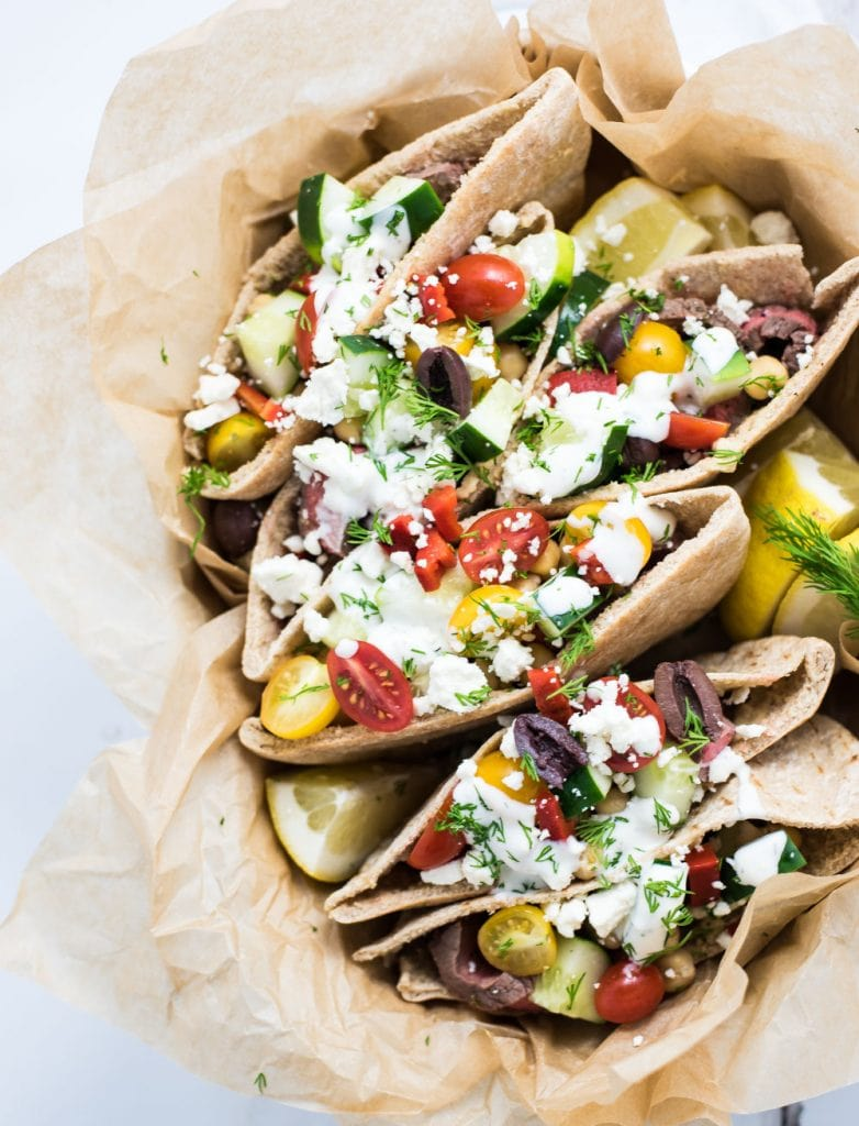 Weekly Family Meal Plan - Grilled Flank Steak Pita Wraps
