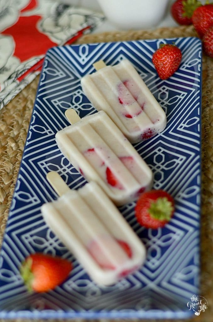 Strawberry Banana Breakfast Popsicles