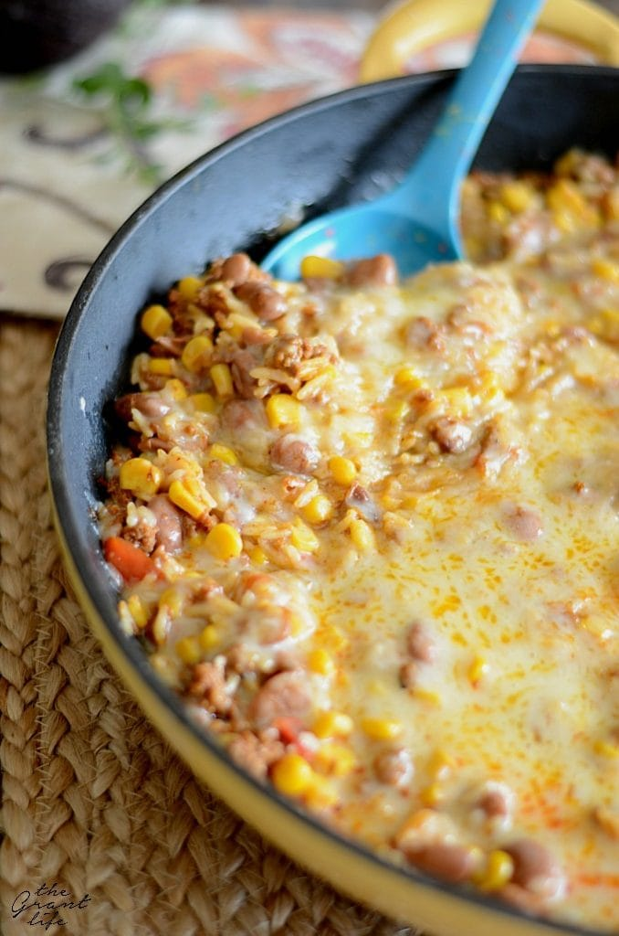Weekly Family Meal Plan - Mexican Rice Skillet