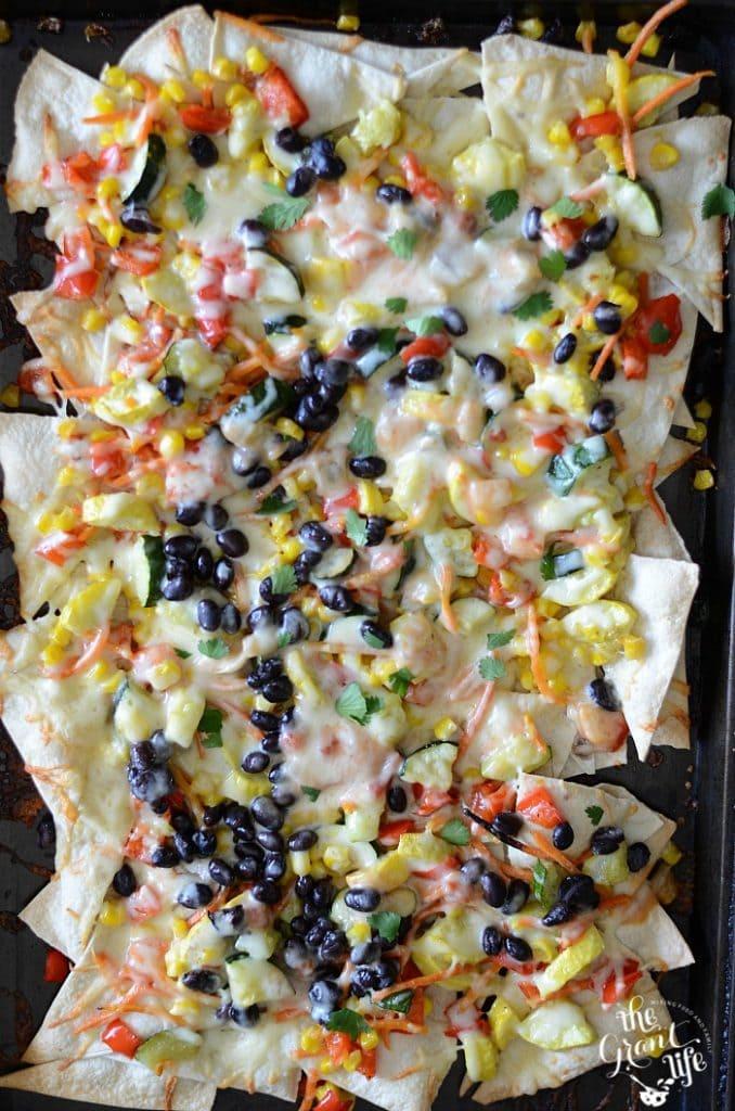 Weekly Family Meal Plan - Roasted Veggie Nachos