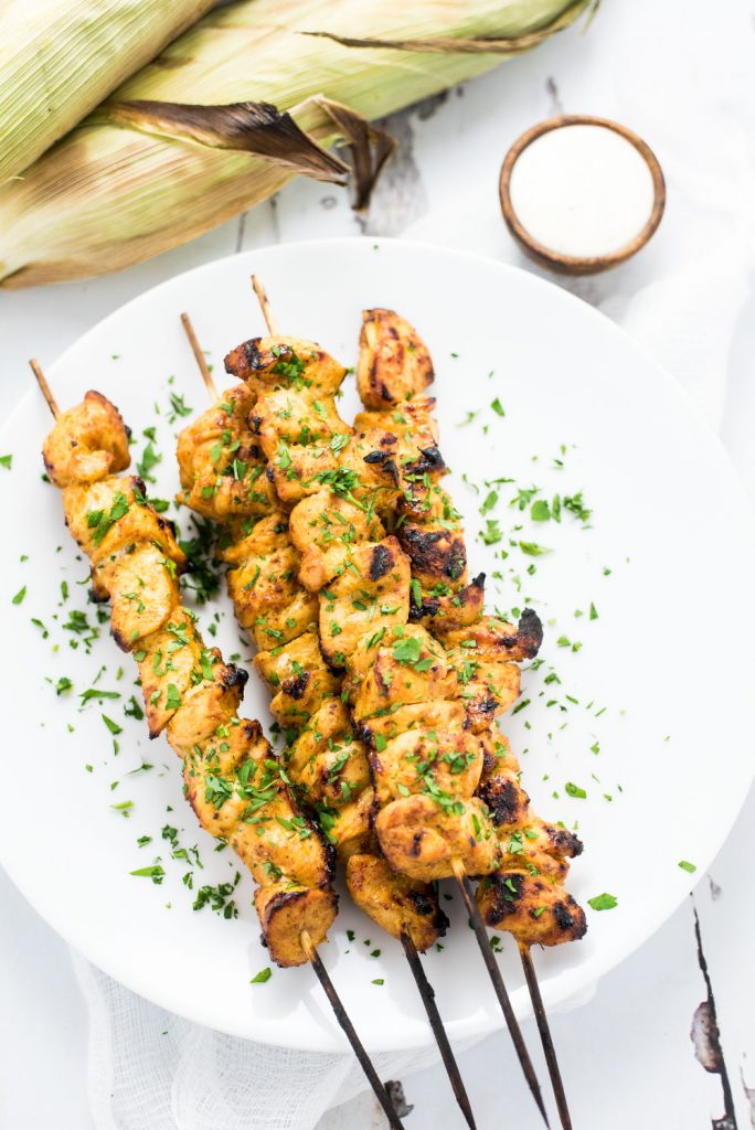 Weekly Family Meal Plan - Grilled Mango Curry Chicken Skewers