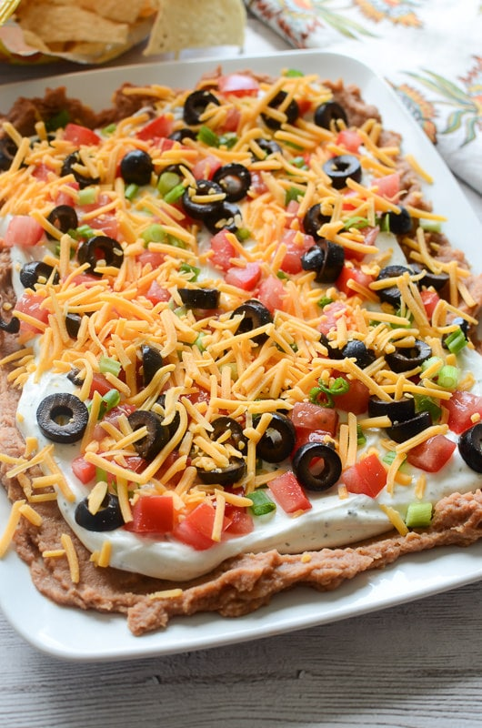 Weekly Family Meal Plan - Layered Ranch Taco Dip