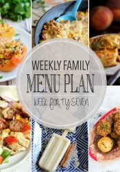 Weekly Family Meal Plan #47