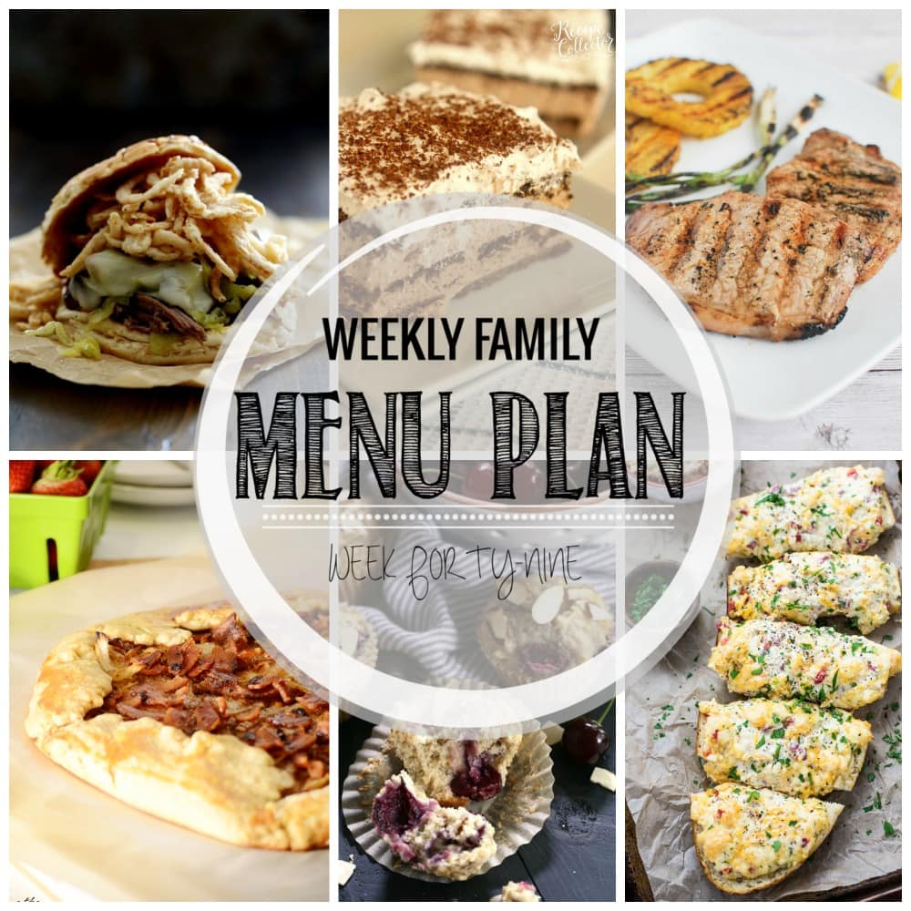 Weekly Family Meal Plan #49