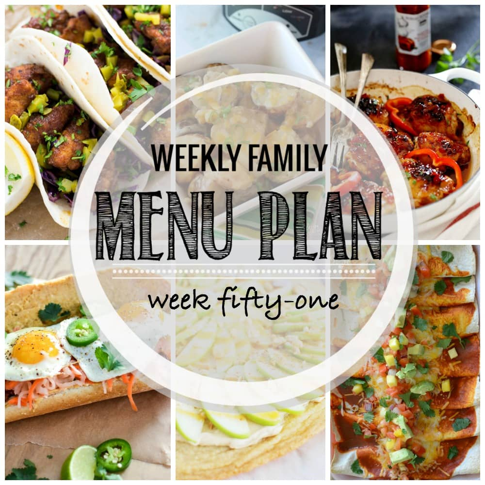 Weekly Family Meal Plan #51