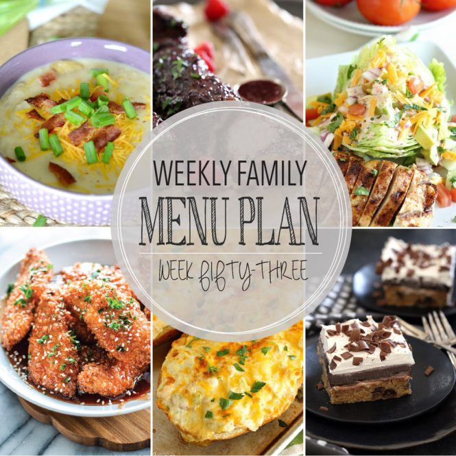Weekly Family Meal Plan #53