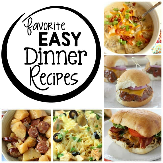 15 Easy Dinner Recipes perfect for those busy nights!