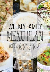 Weekly Family Meal Plan #55