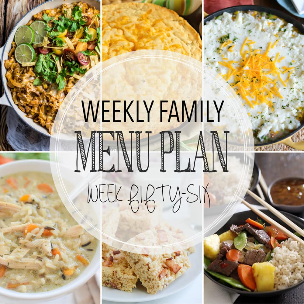 Weekly Family Meal Plan #56