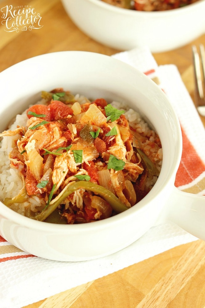 Crock Pot Chicken Cacciatore Diary Of A Recipe Collector