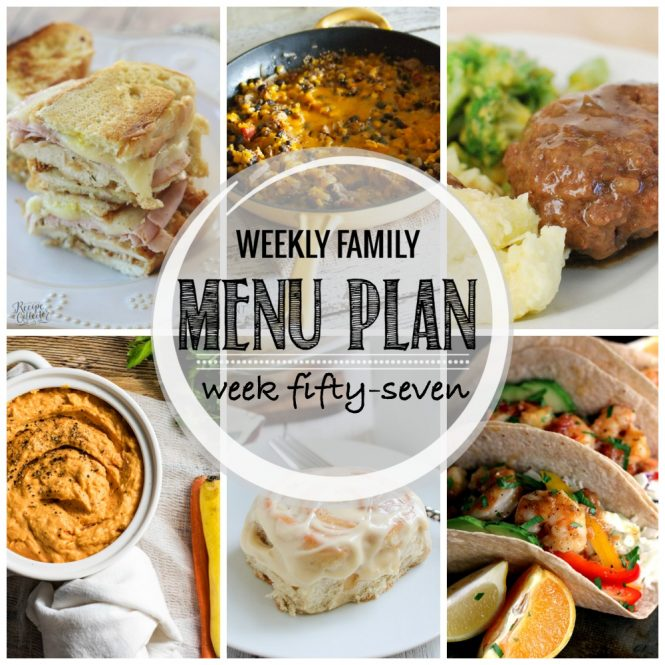 Weekly Family Meal Plan #57