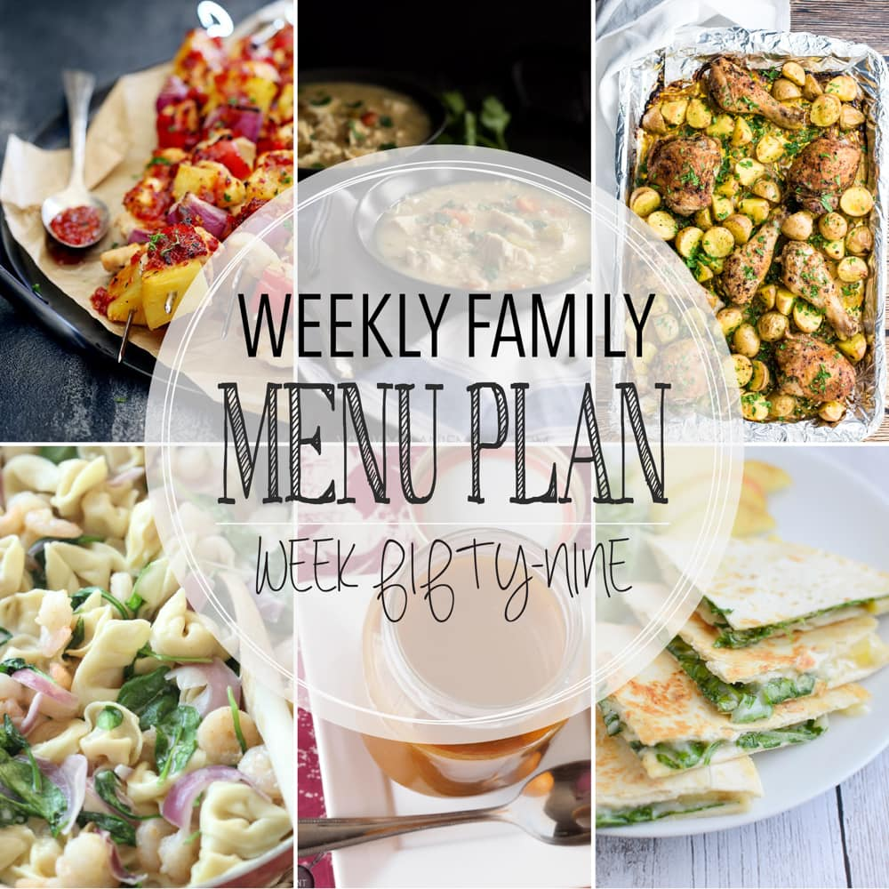 Weekly Family Meal Plan #59