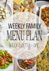 Weekly Family Meal Plan #61