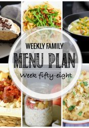 Weekly Family Meal Plan #58