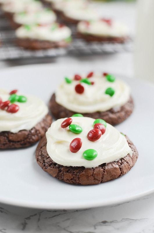 M&Ms Brownie Cookies