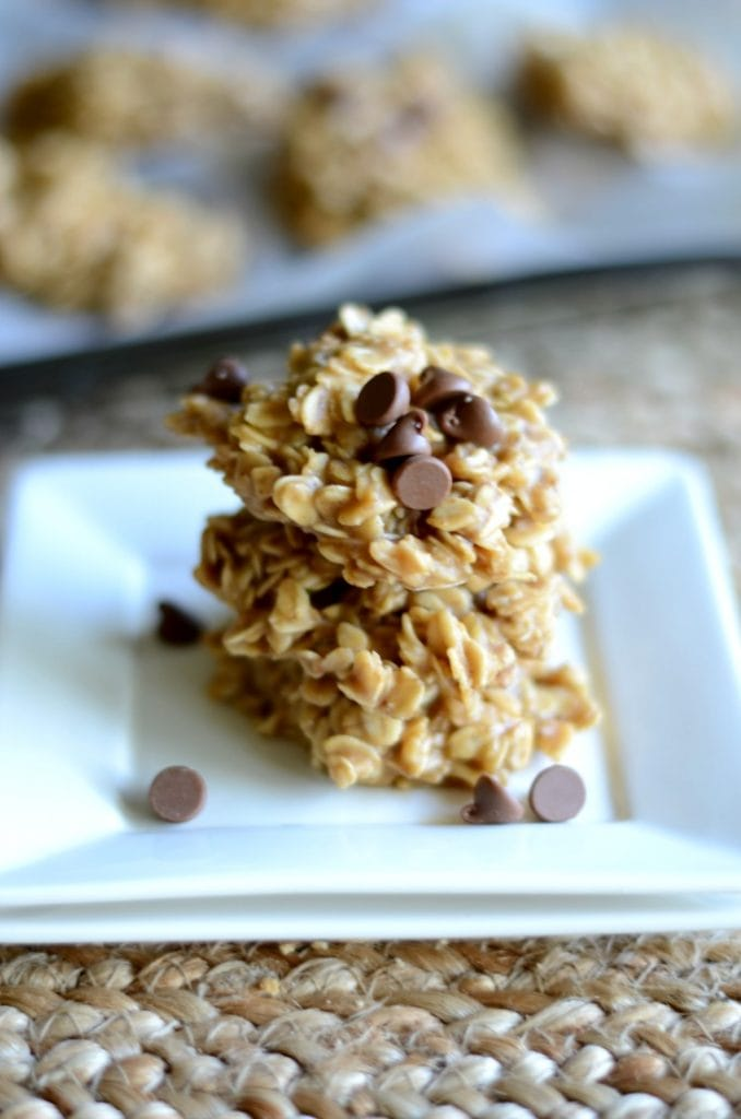 Peanut Butter Chocolate No Bake Cookies
