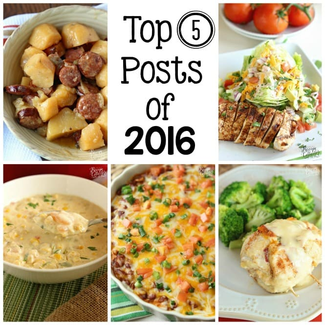 Top Posts of 2016 - A look back at the recipes you loved!