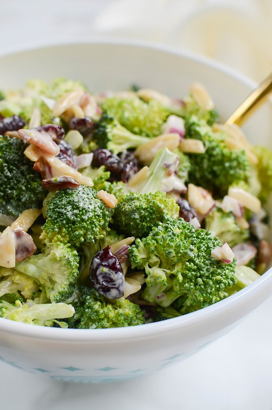Cranberry & Almond Broccoli Salad