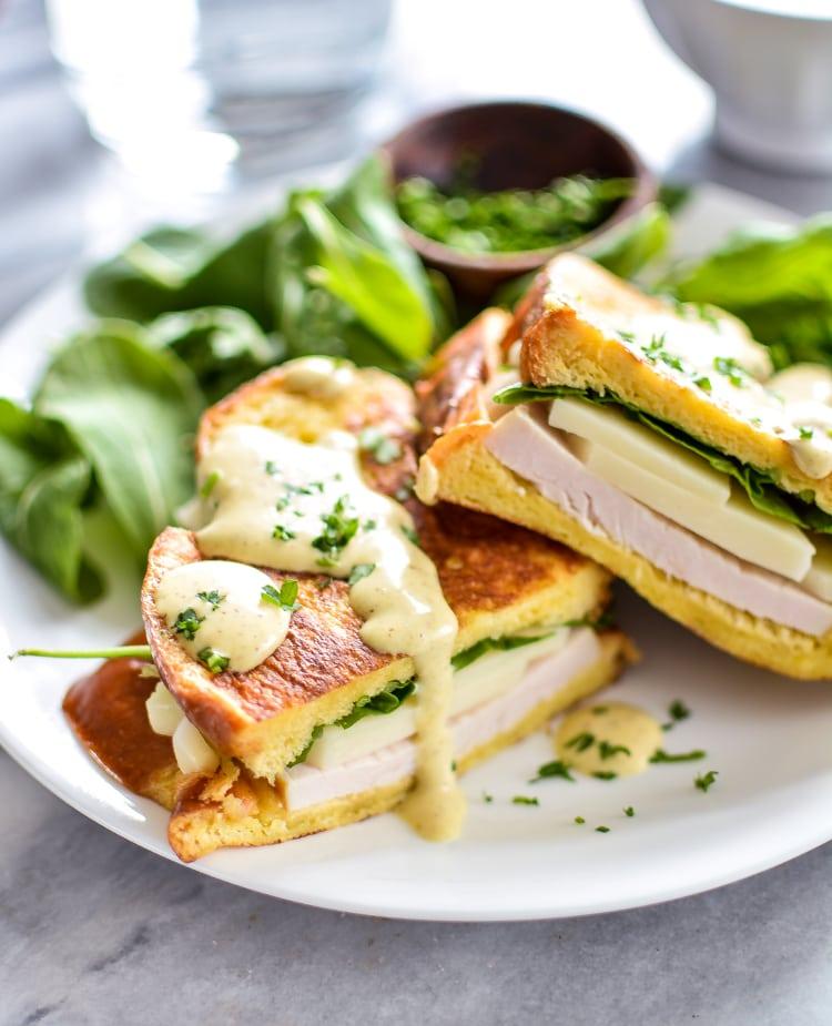 Turkey & Mozzarella Monte Christo Sandwiches with Maple Mustard Sauce