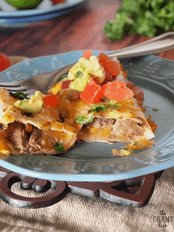 Crockpot Roast Enchiladas