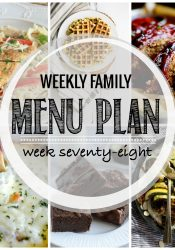 Weekly Family Meal Plan #78
