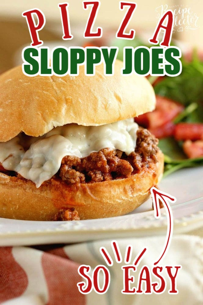 Pizza Sloppy Joes - A delicious homemade sloppy joe with all the flavor of pizza! It's a quick and easy 30 minute dinner recipe perfect for busy families!