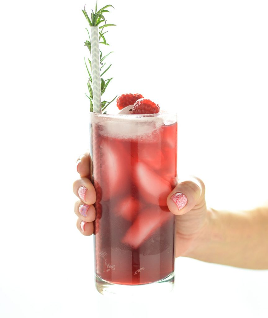 Pomegranate, Champagne, & Raspberry Beer Spritzers
