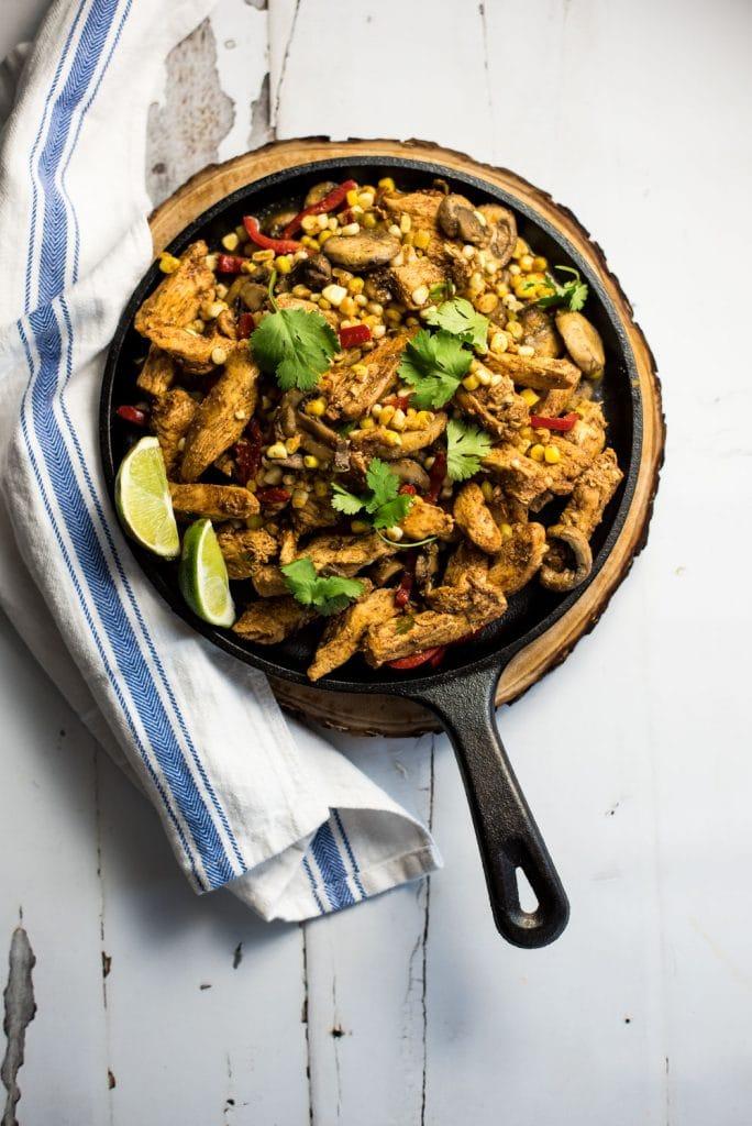 Spicy Corn & Chicken Fajitas
