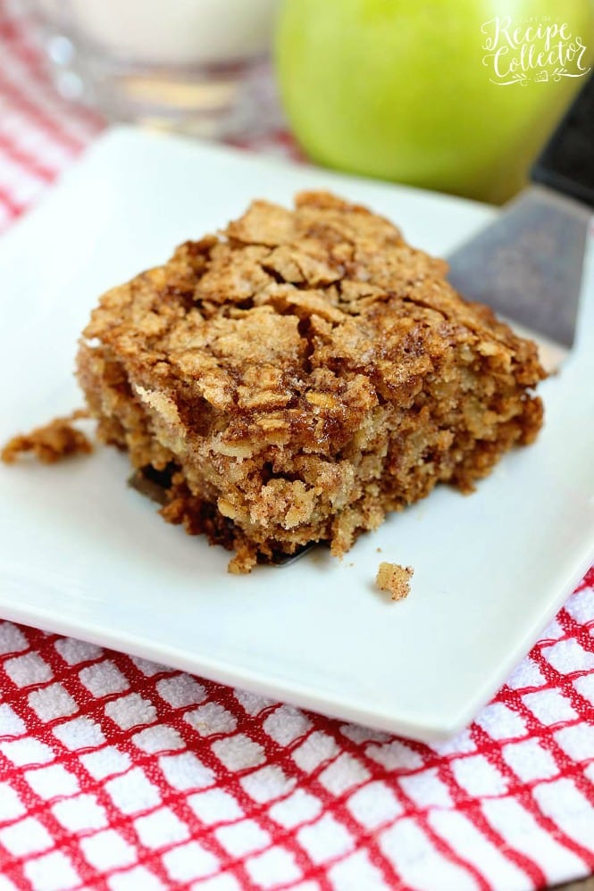 Apple Oatmeal Breakfast Cake Diary Of A Recipe Collector