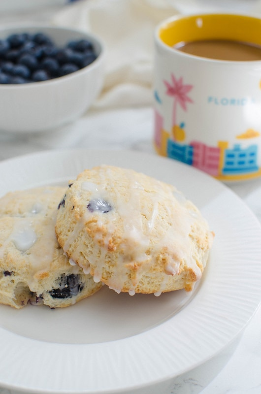 Glazed Blueberry Biscuits