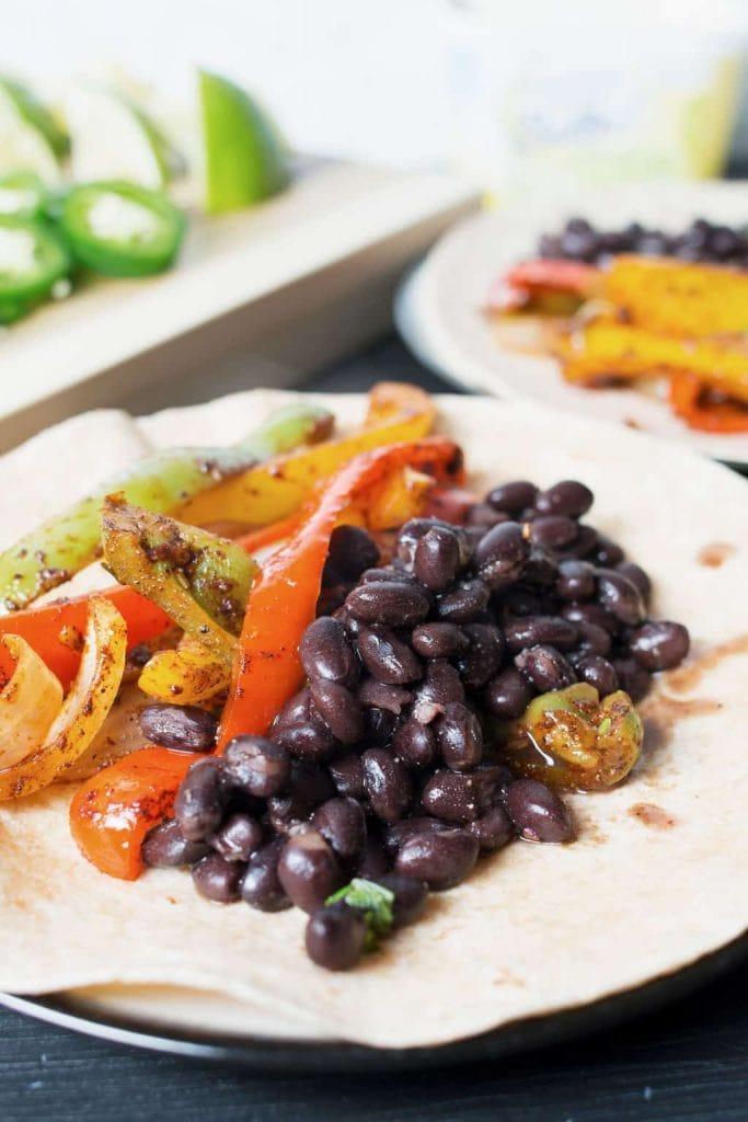 Vegan Black Bean Fajitas