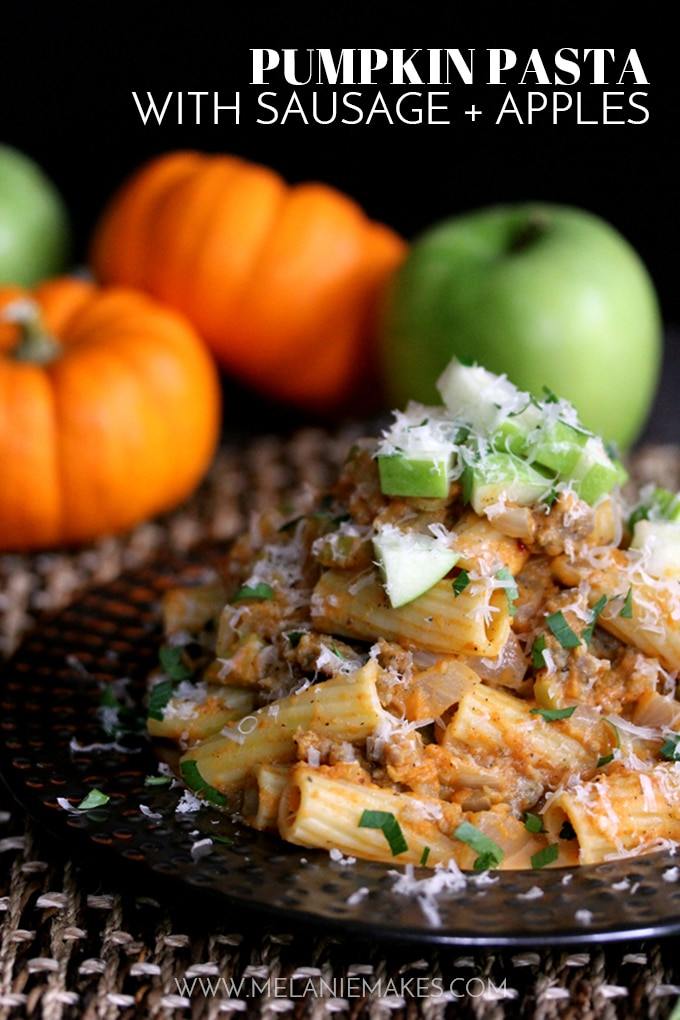 Pumpkin Pasta with Sausage & Apples