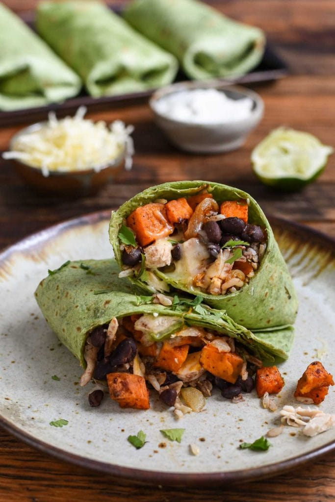 Sweet Potato Black Bean Burrito