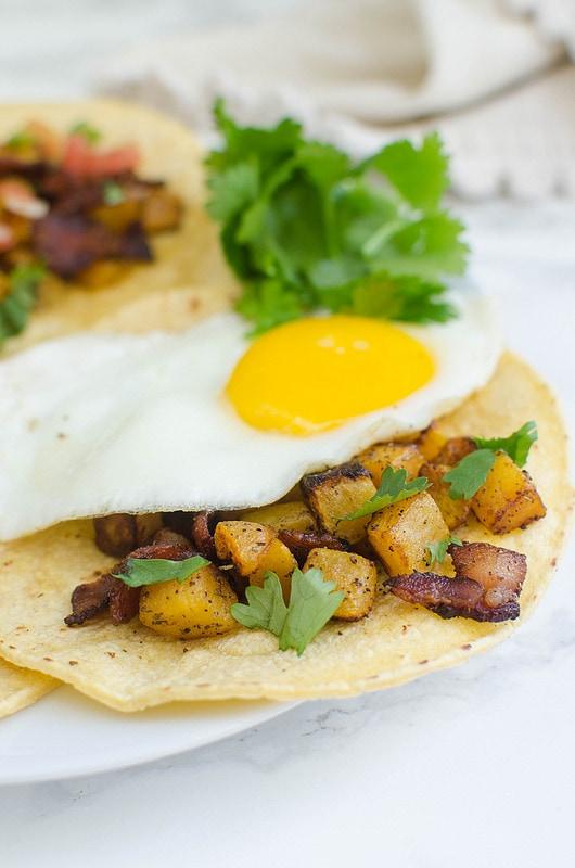 Bacon Butternut Squash Breakfast Tacos