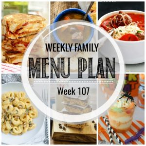 Weekly Family Meal Plan #107