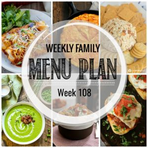 Weekly Family Meal Plan #108
