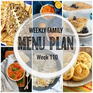 Weekly Family Meal Plan #110