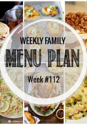 Weekly Family Meal Plan #112