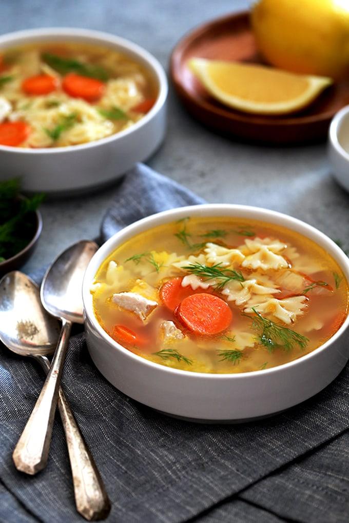 Lemon Dill Chicken Noodle Soup