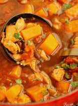 Mexican Chicken, Black Bean, & Sweet Potato Soup