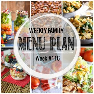 Weekly Family Meal Plan #116