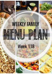 Weekly Family Meal Plan #118