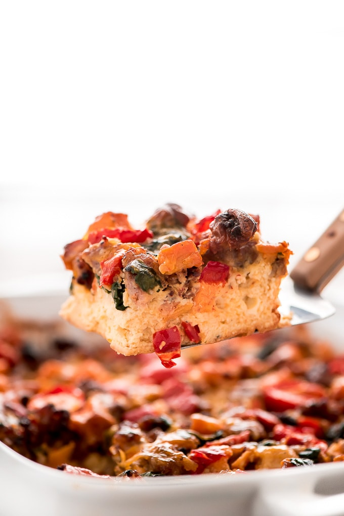 Overnight Sweet Potato Sausage Breakfast Casserole