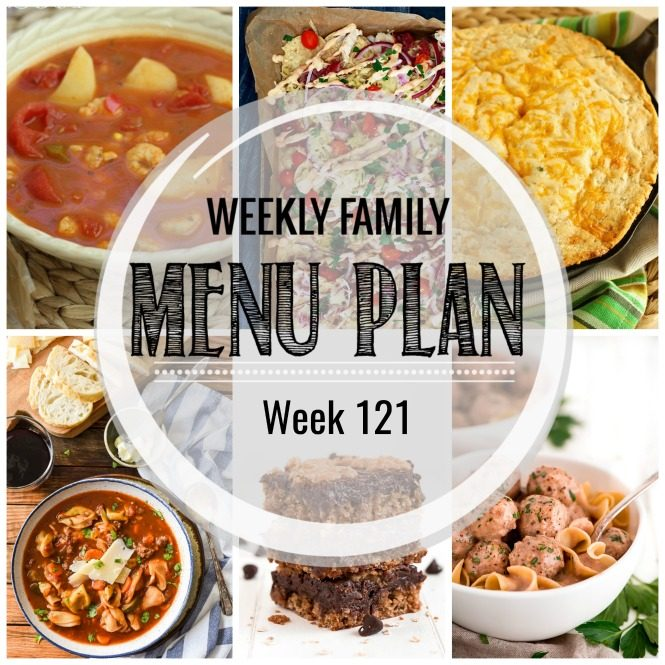 Weekly Family Meal Plan #121