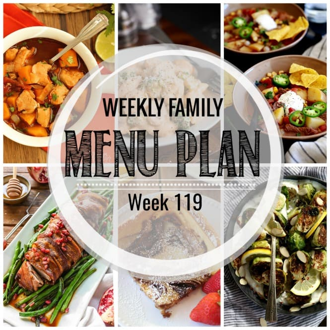 Weekly Family Meal Plan #119