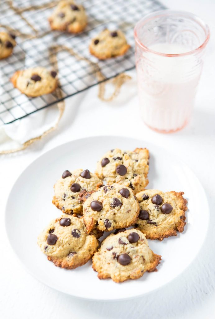 Keto Chocolate Chip Cookies with Pecans