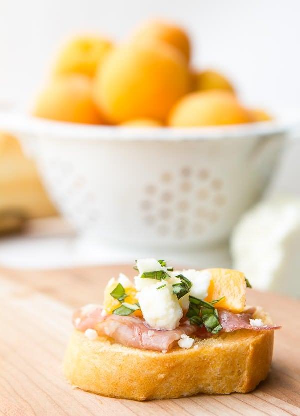Apricot Cheese Prosciutto Baguette