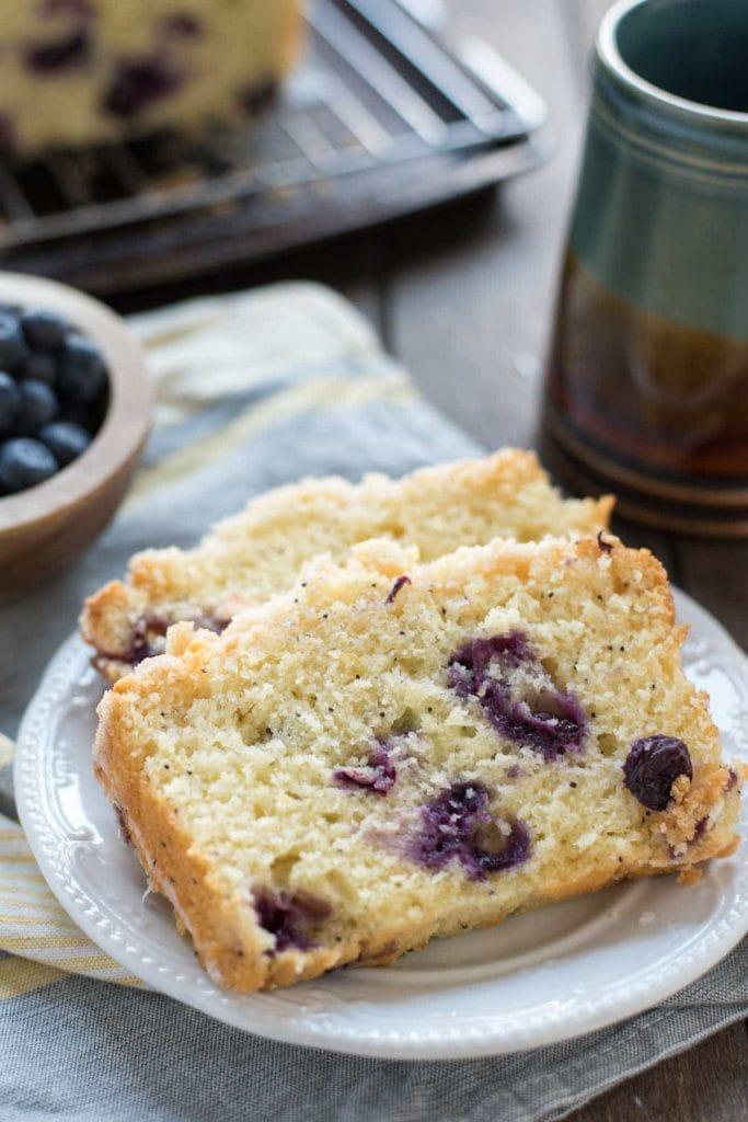 Lemon Blueberry Crumb Bread