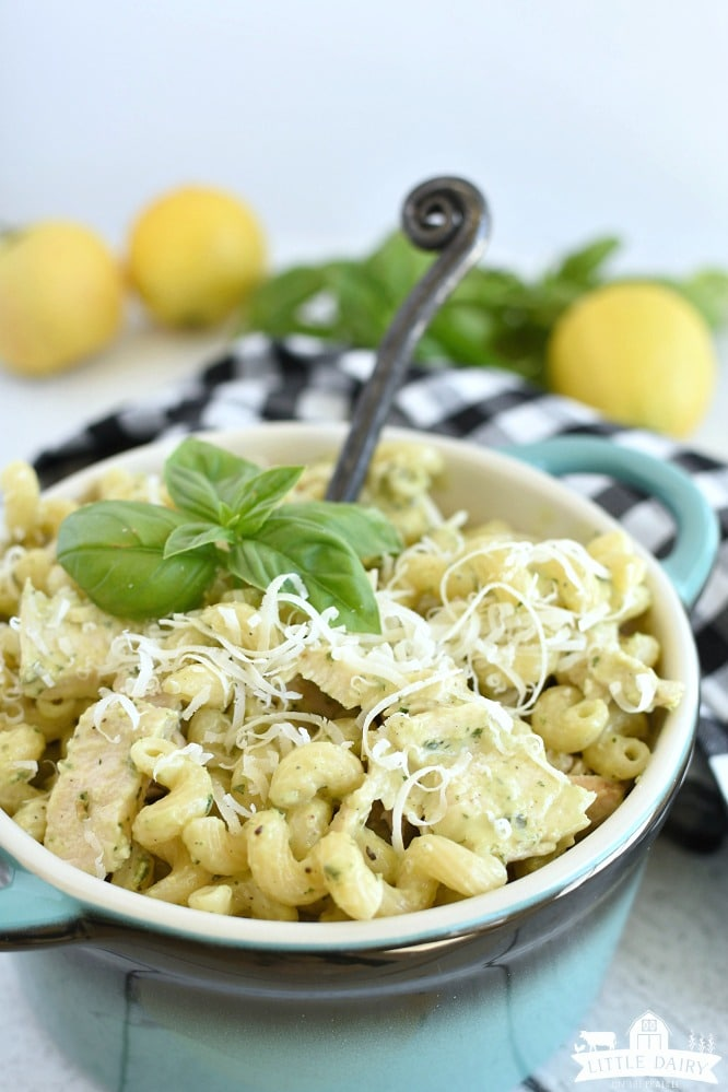 Lemon Pesto Pasta Salad with Grilled Chicken